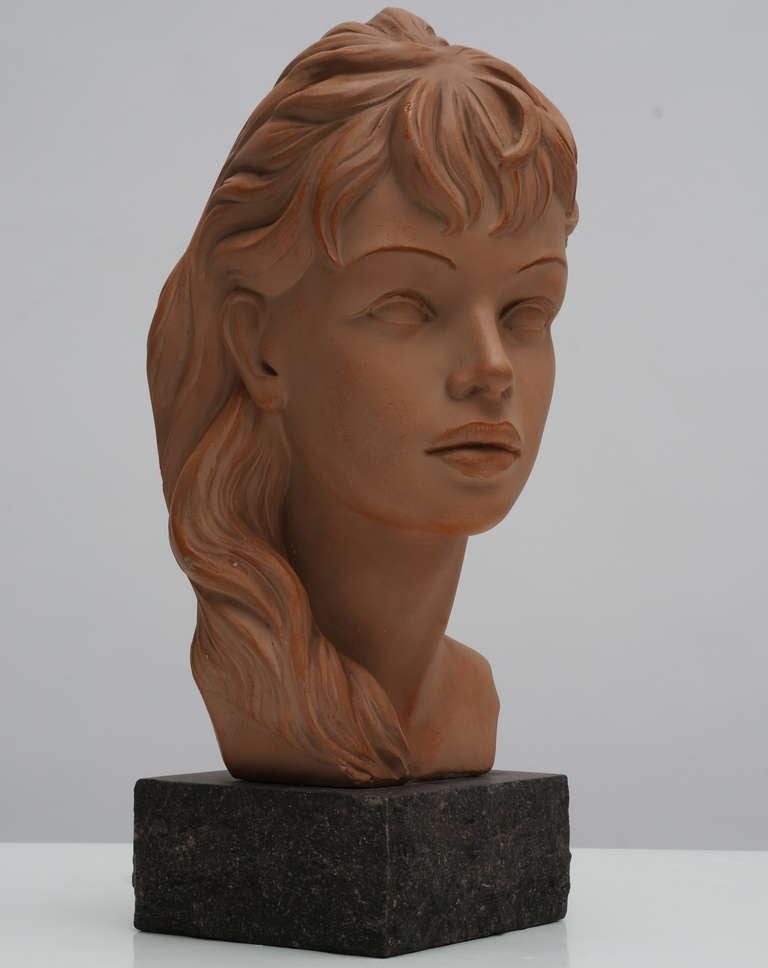 Terracotta Bust  For Sale 4