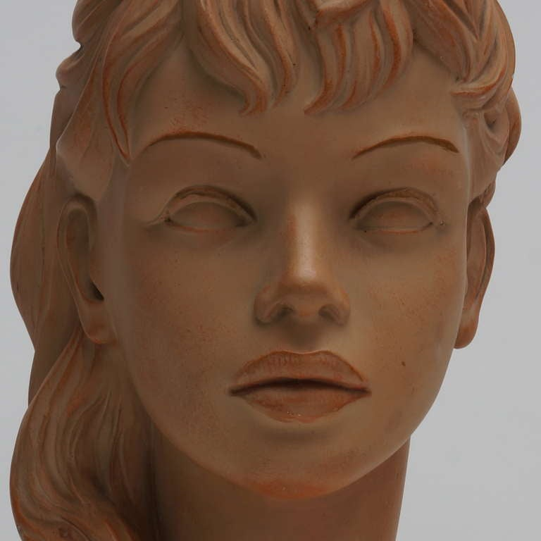 Terracotta Bust  In Good Condition For Sale In Antwerp, BE