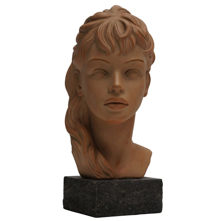 Terracotta Bust  For Sale