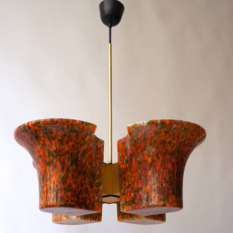 Late 20th Century Italian Murano Chandelier For Sale