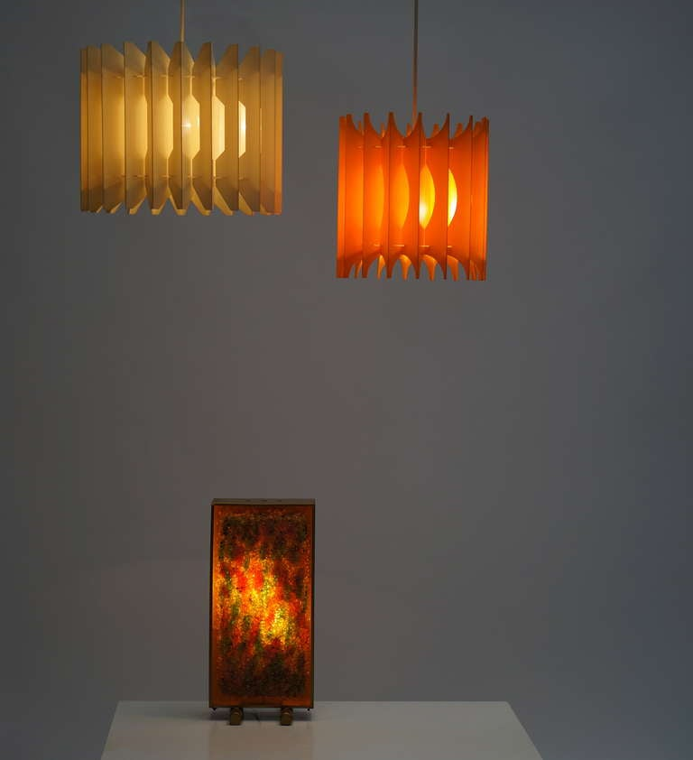 Late 20th Century Pair of Pendant Lights For Sale