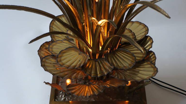 Mid-20th Century One Maison Jansen Bull Rush Floor Lamp For Sale