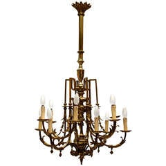 French Bronze Napoleon III Chandelier