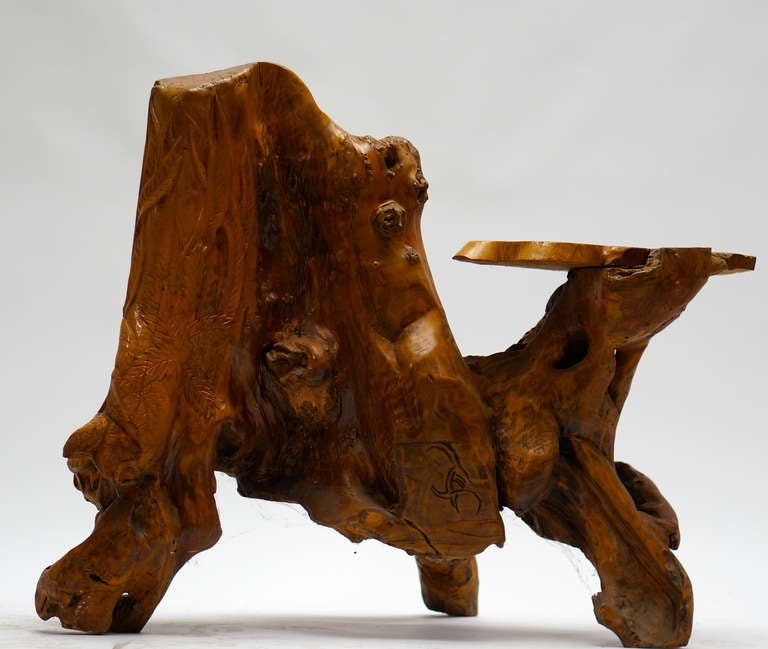 Unknown Burl Wood Bench For Sale