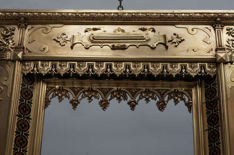 Antique French Bronze and Brass Fire Surround In Excellent Condition For Sale In Antwerp, BE