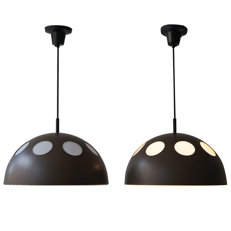 One of Two Pendant Lamps by RAAK For Sale