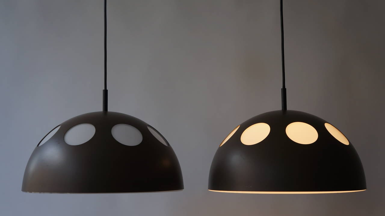 Plastic One of Two Pendant Lamps by RAAK For Sale