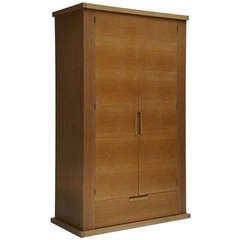 French Limed Oak Armoire