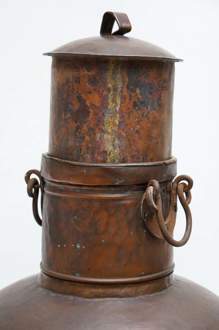 Tall Copper Covered Container In Good Condition For Sale In Antwerp, BE