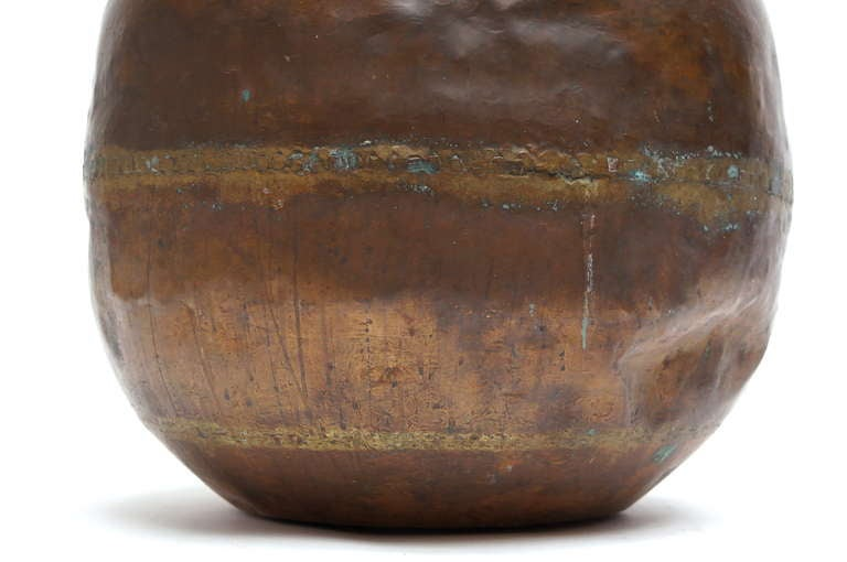 Tall Copper Covered Container For Sale 1