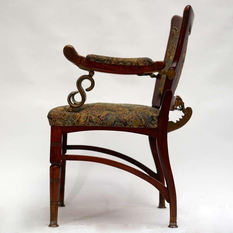 20th Century Italian Art Nouveau Barber Chair For Sale