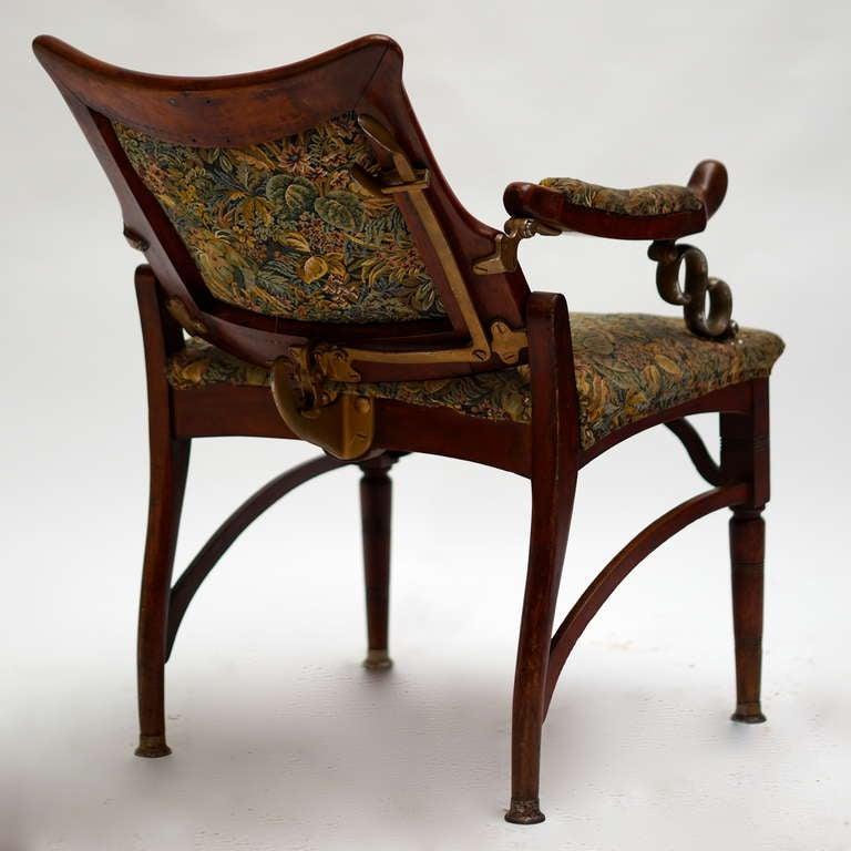 Italian Art Nouveau Barber Chair For Sale 1