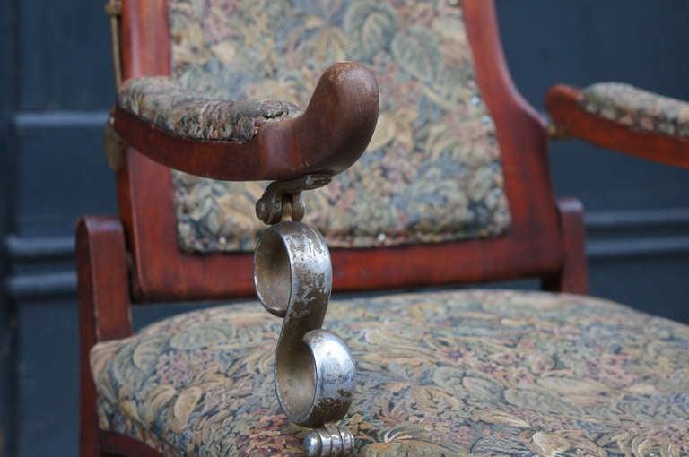 Italian Art Nouveau Barber Chair For Sale 4