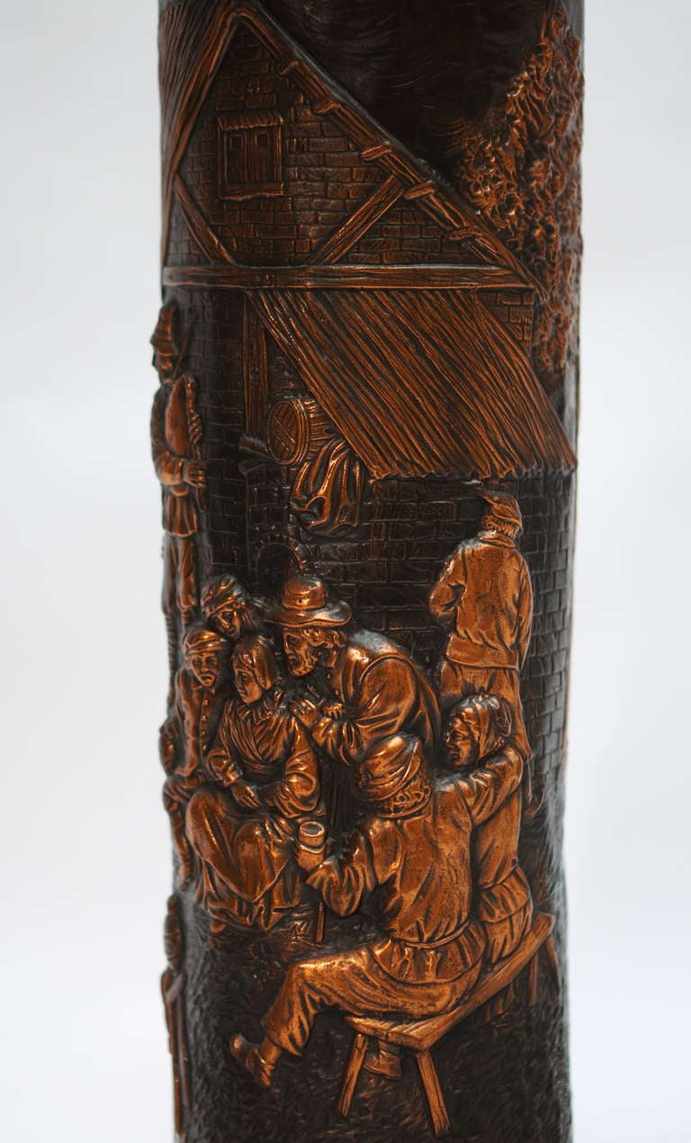 Red Copper Planter on Column For Sale 1