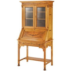 Aesthetic Maple Fall-Front Secretaire