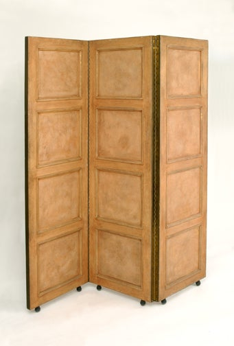 Art Deco Carved Églomisé Mirror Screen 'Signed' For Sale 1