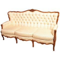 Vintage Walnut Upholstered Sofa by Epstein c.1930