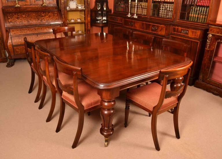 antique dining room tables antique william iv mahogany dining table 8 chairs c 1830 4084