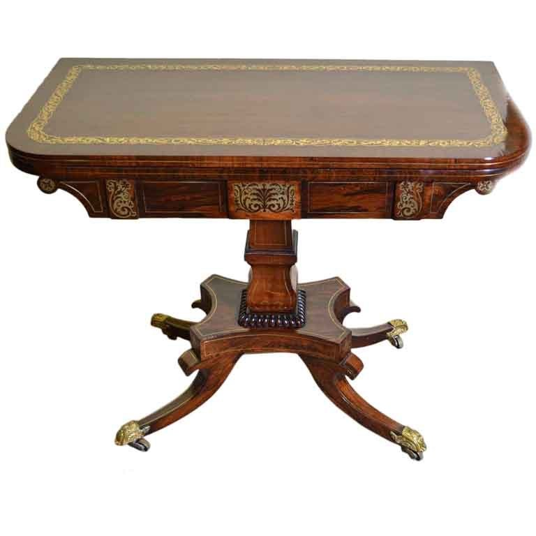 Antique Card Table Regency Card Table Inlaid Card Table Antique