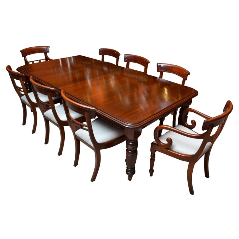 Antique Dining Room Table Chairs: Antique Victorian 8ft Mahogany Dining Table And 8 Chairs