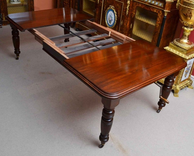 Antique Victorian 8ft Mahogany Dining Table and 8 Chairs ...