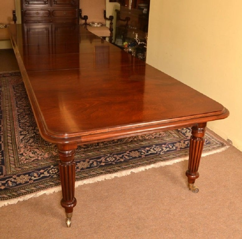 vintage victorian dining conference table 14ft mahogany at 1stdibs. Black Bedroom Furniture Sets. Home Design Ideas