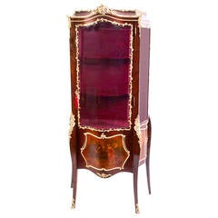 Early 20th Century French Vernis Martin Display Cabinet