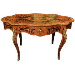 Antique French Writing Table Desk Bureau Plat c.1870