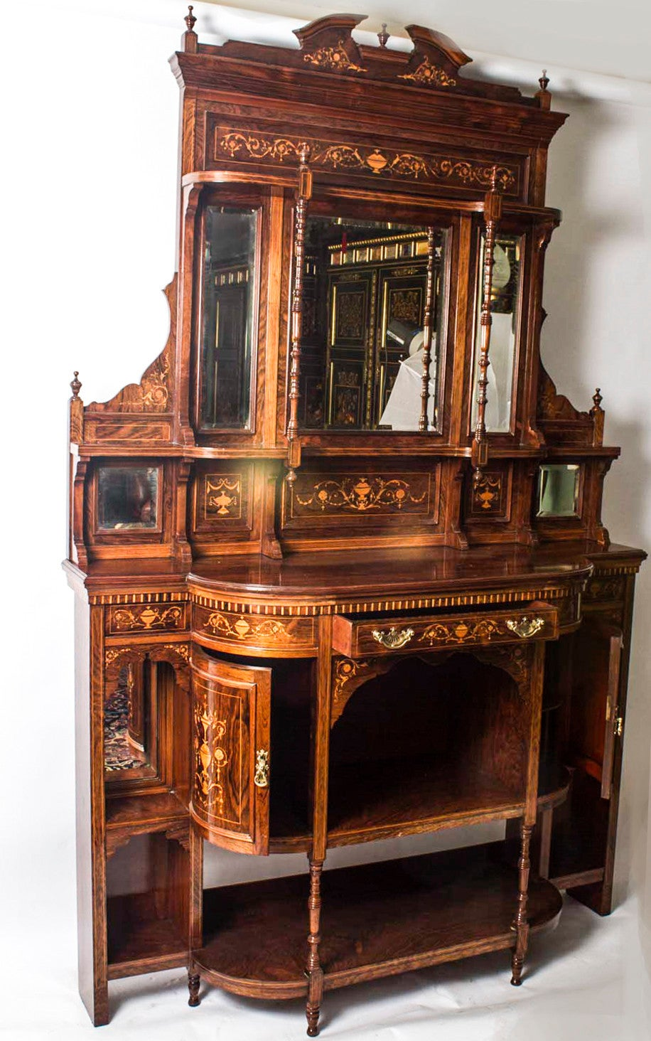 Antique Edwardian Rosewood Inlaid Cabinet, circa 1900 at ...