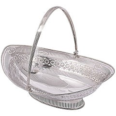 Antique Hester Bateman Silver Basket 1784
