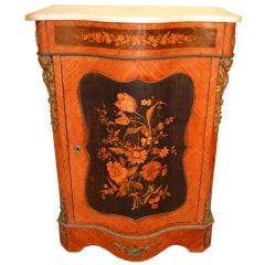 Antique Victorian Kingwood Marquetry Cabinet c.1850