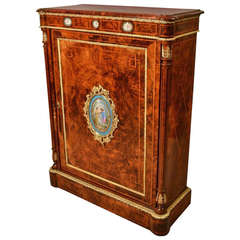 Antique Victorian Pier Cabinet Sevres Plaques circa 1860