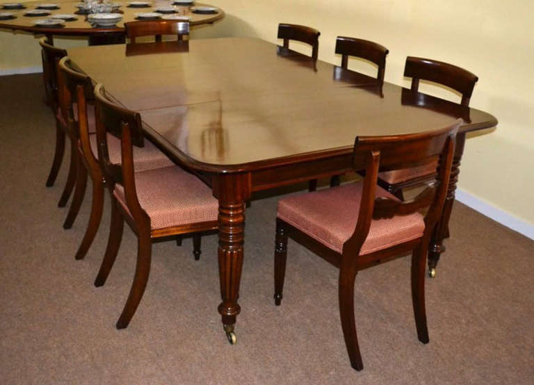 Antique Regency Dining Table C1820 8 Vintage Chairs 2
