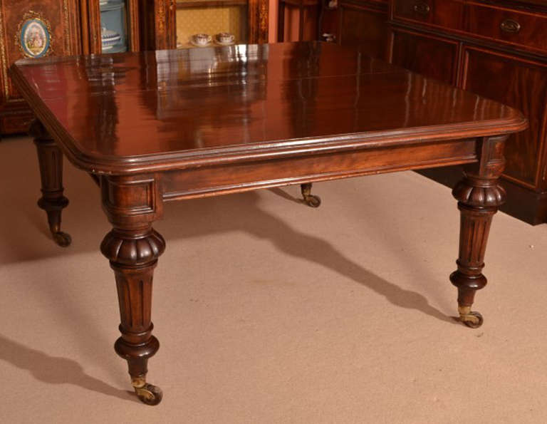 antique 12 foot victorian dining table circa 1860 and 14