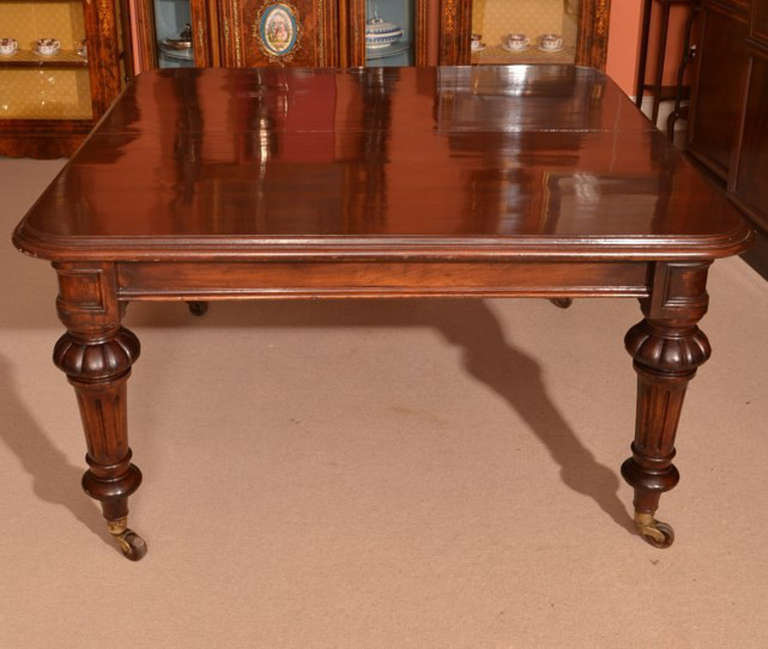 Antique 12 Foot Victorian Dining Table circa 1860 and 14 ...