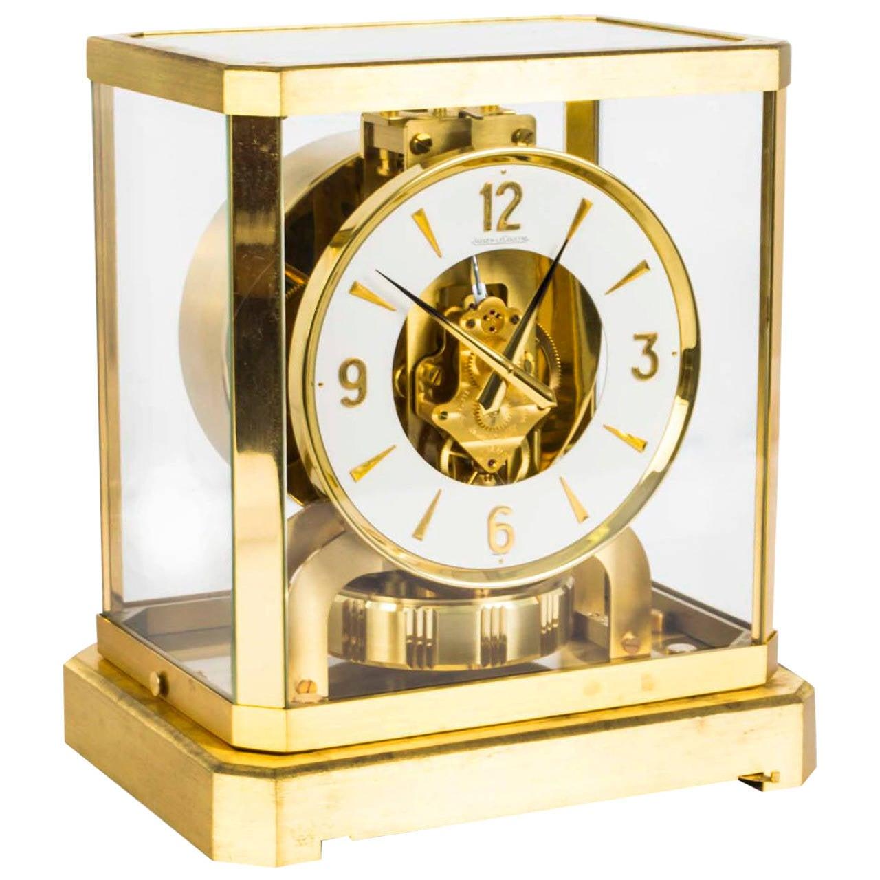 Vintage Atmos Jaeger Le Coultre Mantle Clock Circa 1970
