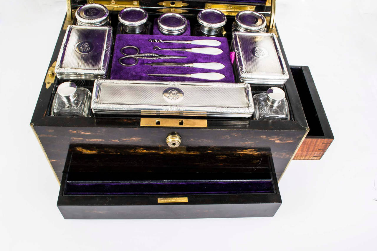 Antique Lady S Vanity Case Howell James And Co 1878 At 1stdibs