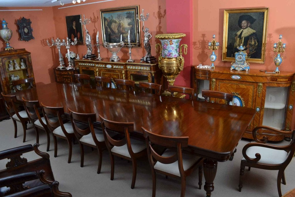 Victorian Dining Room | Antique Victorian Dining Table And 14 Chairs C 1880 At 1stdibs