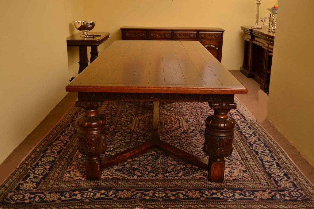 Harrods Oak Dining Room Suite Table 10 Chairs With Sideboard 2