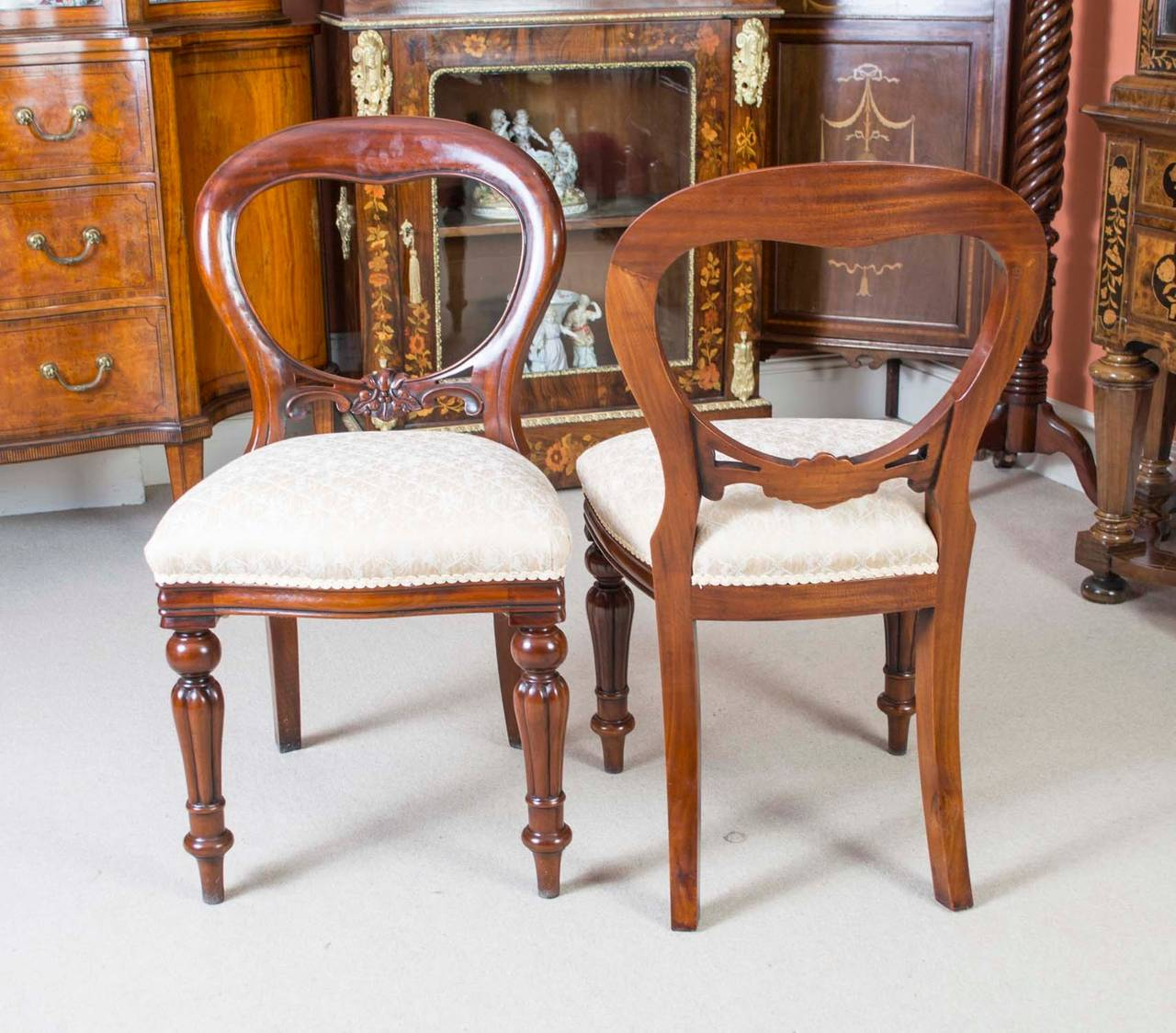 Victorian Dining Room Sets: Antique Victorian Dining Table C.1850 And 12 Chairs At 1stdibs