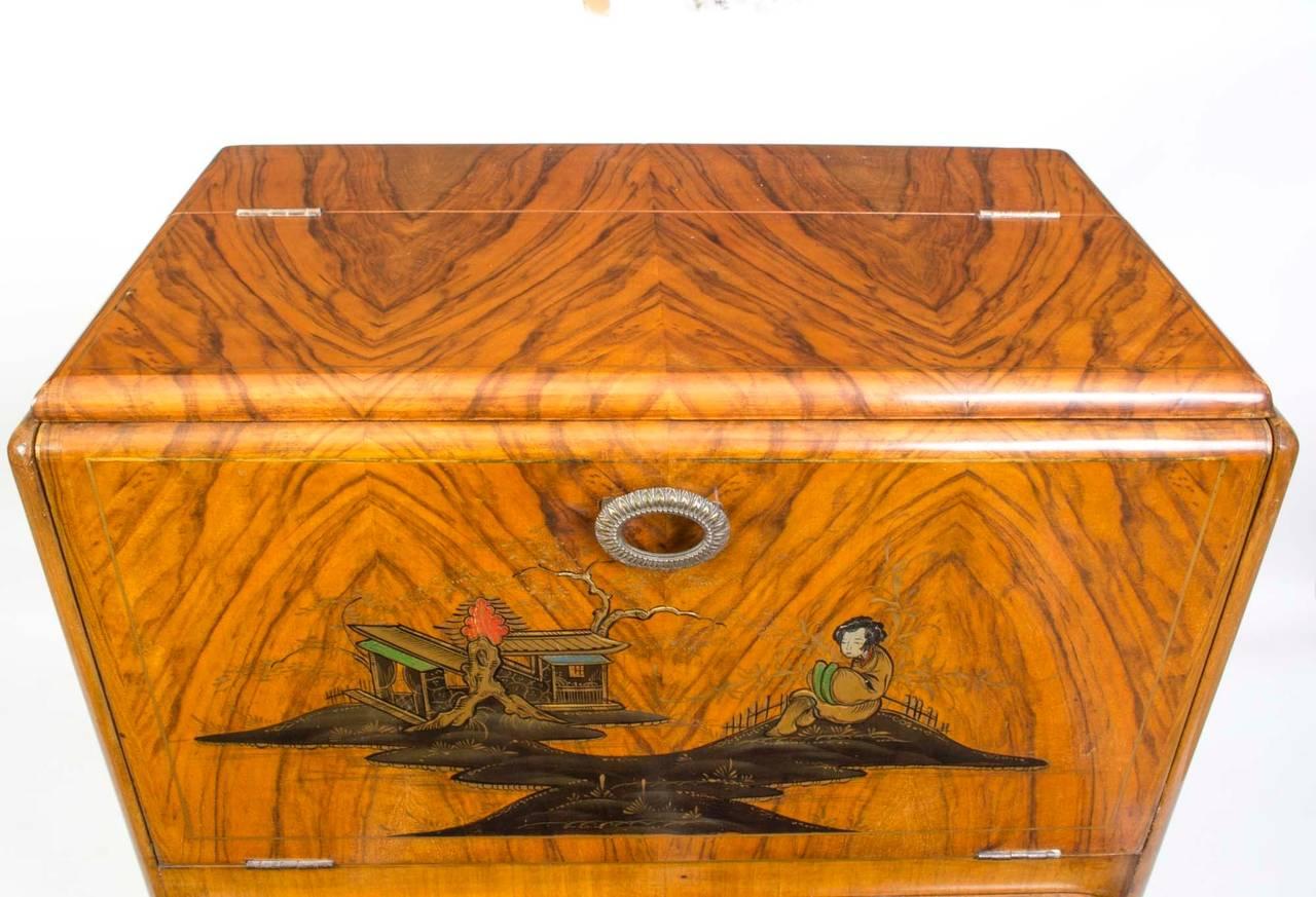 Antique Art Deco Chinoiserie Cocktail Cabinet Circa 1920 3