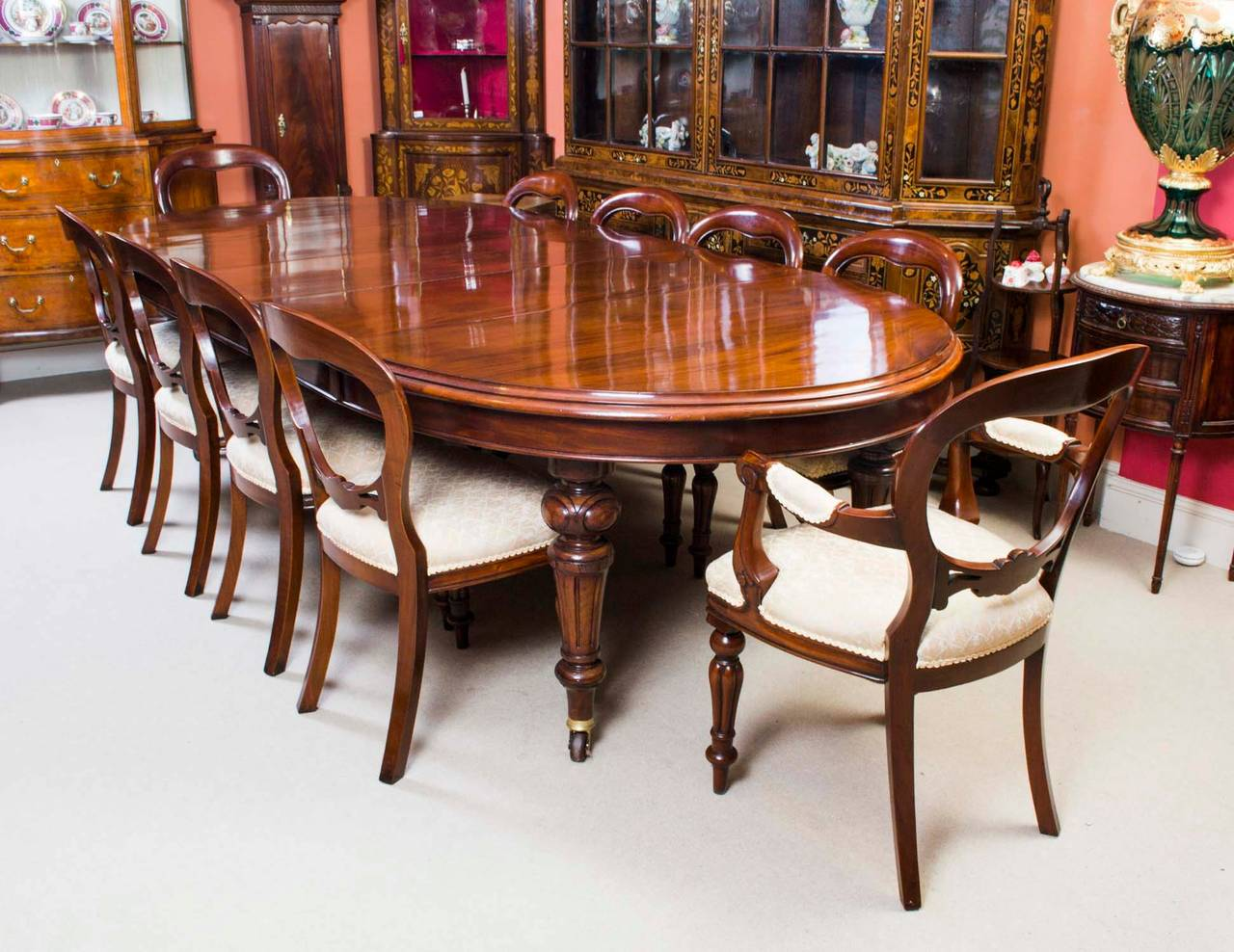 Antique victorian extending dining table circa 1870 at for Dining room tables victorian