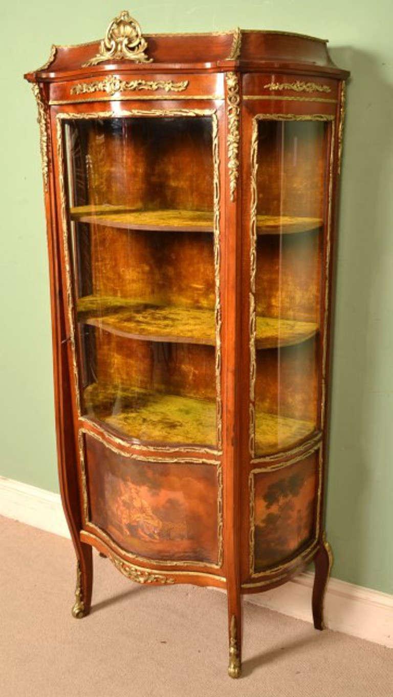 antique french vernis martin vitrine cabinet circa 1900 at 1stdibs. Black Bedroom Furniture Sets. Home Design Ideas