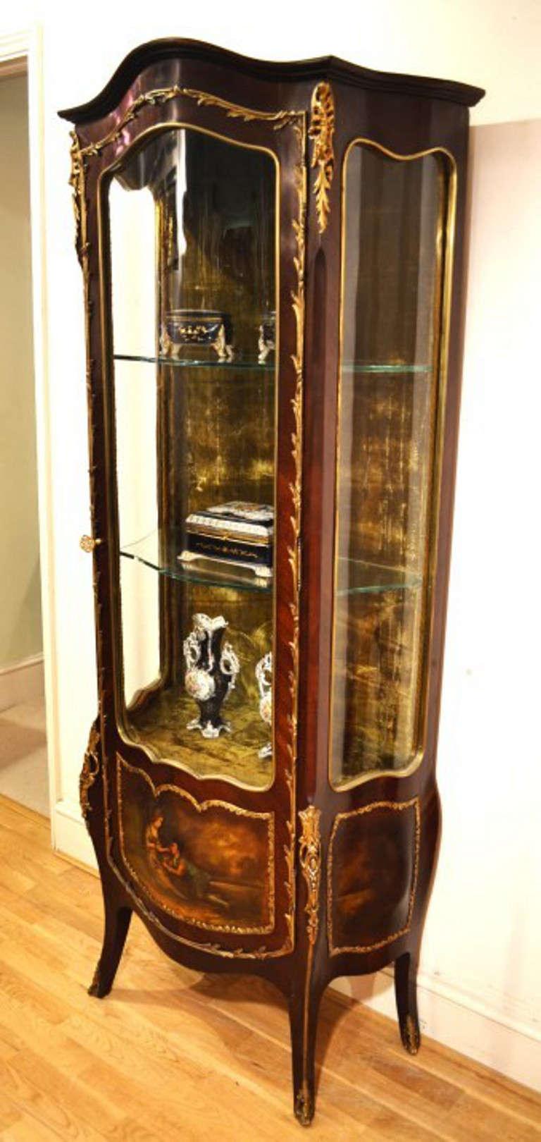 Antique elegant vernis martin display cabinet at 1stdibs - Vintage pieces of furniture old times elegance ...