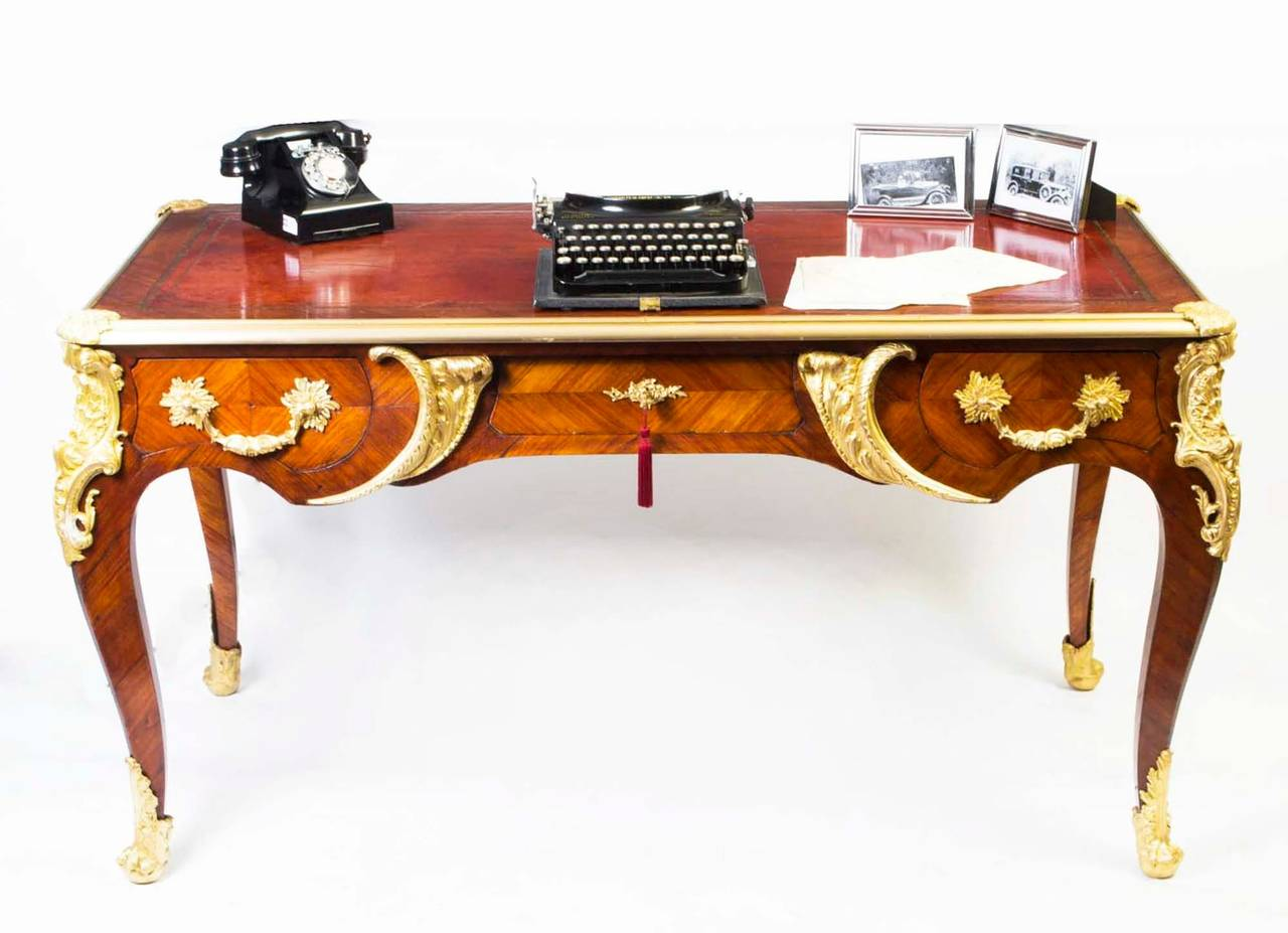 antique french writing table desk or bureau plat circa 1880 at 1stdibs. Black Bedroom Furniture Sets. Home Design Ideas