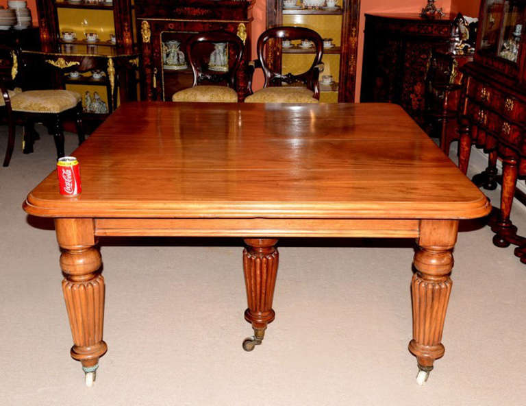antique 12ft mahogany dining table c 1850 and 16 chairs at
