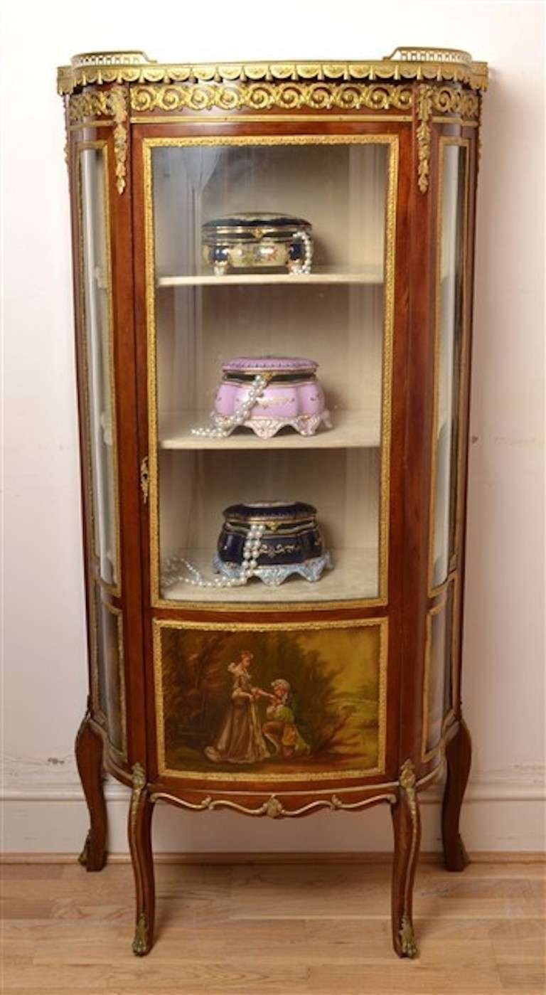 Antique French Vernis Martin Cabinet Vitrine 2 - Antique French Vernis Martin Cabinet Vitrine At 1stdibs