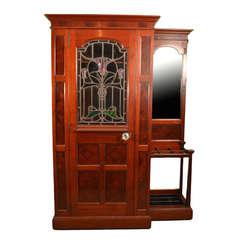 Antique Edwardian Mahogany Hall Cupboard