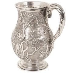 Antique Chinese Wang Hing Silver Mug