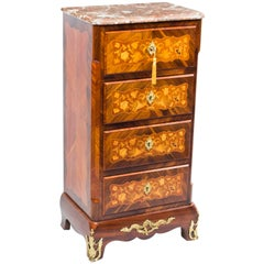 19th Century French Rosewood Secretaire Chest